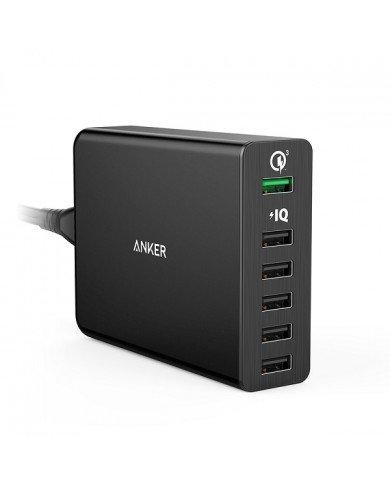 Sạc ANKER 6 cổng, 60W, Qick Charge 3.0 (Powerport +6, 60W, QC 3.0)