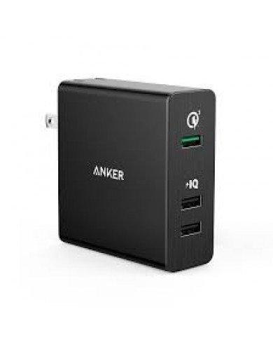 Sạc ANKER 3 cổng, 42W, Quick Charge 3.0 (Powerport +3, 42W, QC 3.0)