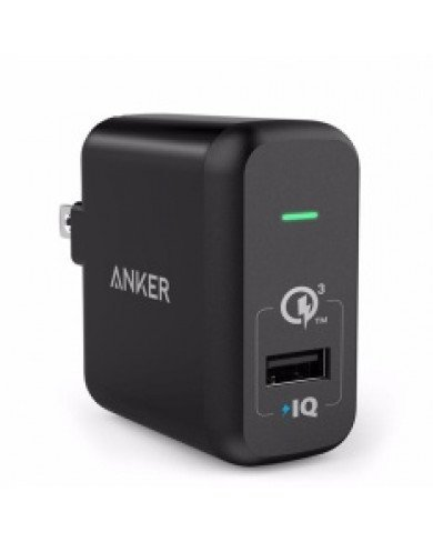 Sạc ANKER 1 cổng 18W, Quick charge 3.0 (Co Poweriq, Powerport +1, QC 3.0, with Poweriq)