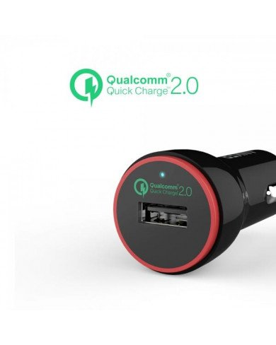 Sạc Ô tô ANKER 1 cổng, 24W, Quick Charge 2.0 (Powerdrive Plus 1,24W, QC 2.0)