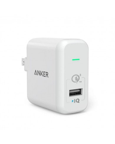 Sạc ANKER 1 cổng 18W, Quick Charge 3.0 (Co Poweriq, Powerport Plus 1, QC 3.0, with Poweriq)
