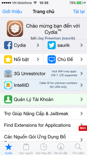 Jailbreak iOS 9.2 va iOS 9.3 khong can may tinh 5